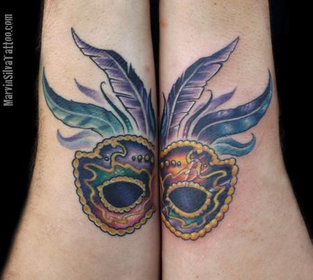 Marvin Silva - Mardi Gras Mask Tattoo