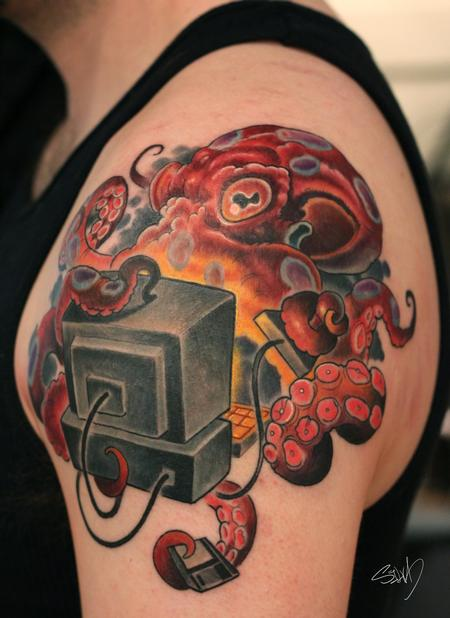Tattoos - Tom's Octopus Tattoo - 95306