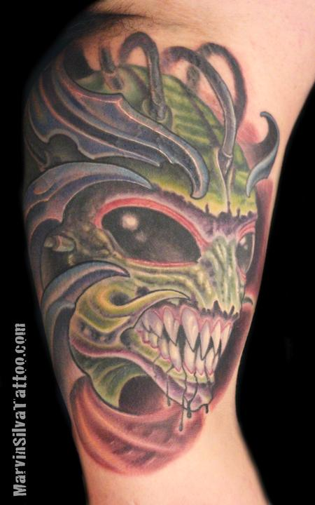 Tattoos - Bio Organic Alien Tattoo - 86393