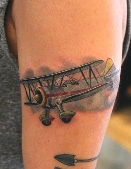 Tattoos - Biplane Tattoo - 86390