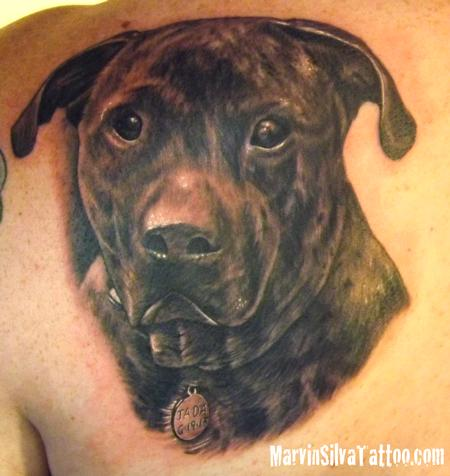 Tattoos - Dog Portrait Tattoo - 78036