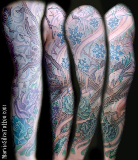 Tattoos - Custom Winter Spring Tattoo - 80805
