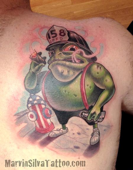 Tattoos - Custom Firefighter Tattoo - 82385