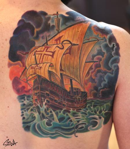 Tattoos - Crusader Ship Tattoo - 101516