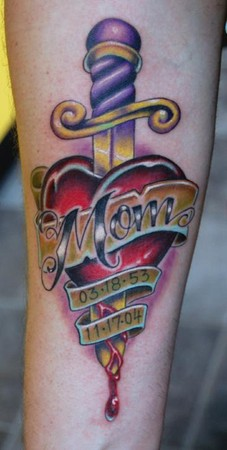 Marvin Silva - Mom Memorial Tattoo