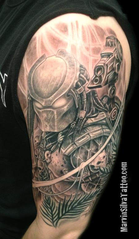 Marvin Silva - The Predator Tattoo