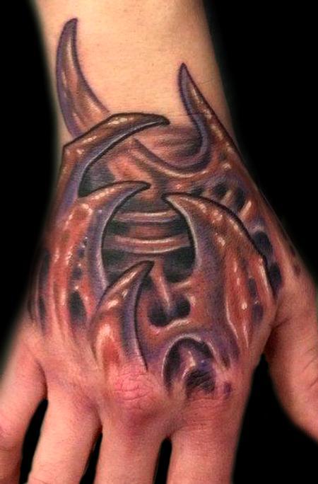 Marvin Silva - Bio Organic Hand Tattoo