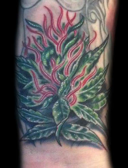 Marvin Silva - Marijuana Tattoo
