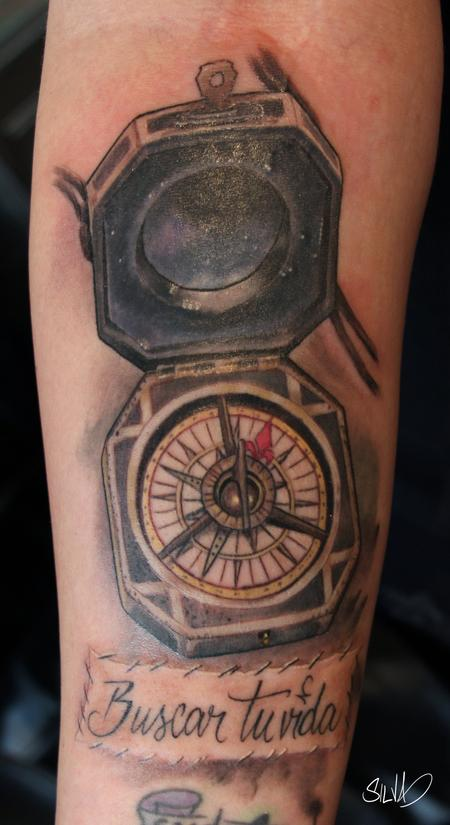 Captain Jack Sparrow Compass Tattoo Design Thumbnail