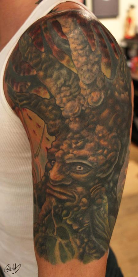Marvin Silva - Custom Old Tree Tattoo