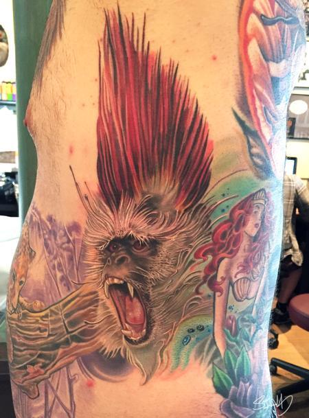 Tattoos - Punk Rock Monkey Tattoo - 106743