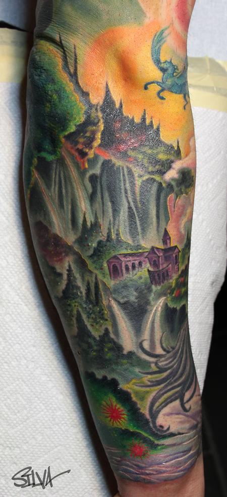 Tattoos - Fantasy Landscape - 100595