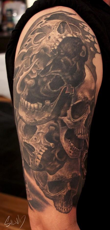 Tattoos - Custom Skull Tattoo - 114281
