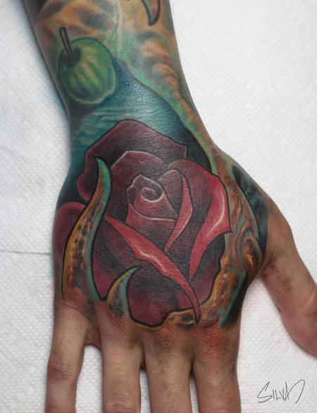 Tattoos - Bio Rose Hand Tattoo - 108946