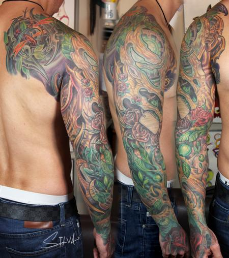 Tattoos - Custom Bio Organic Sleeve Tattoo - 109983