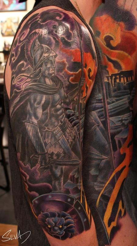 Tattoos - Custom Ares God of War Tattoo - 114282