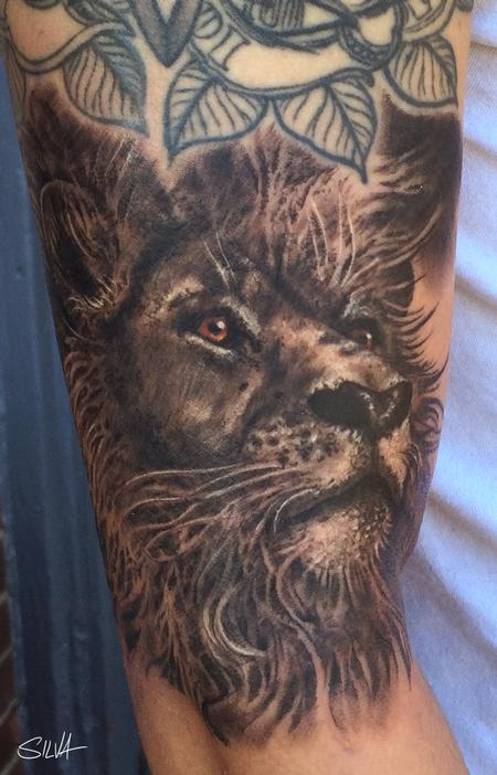 Tattoos - Custom Lion Portrait Tattoo - 115755
