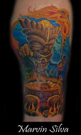 Tattoos Tattoos Evil Tiki Head Hunter Now viewing image 53 of 60 previous