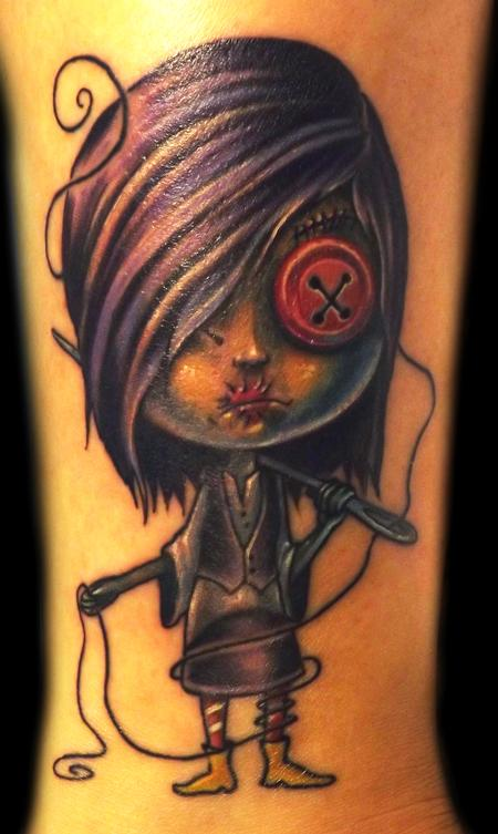 Zombie Girl Tattoo Tattoo Design Thumbnail