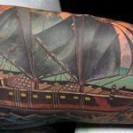 Tattoos - Custom Pirate Ship Tattoo - 100596