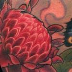 Custome Ginger Flower and Butterfly Tattoo Tattoo Design Thumbnail
