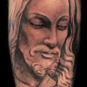 Jesus Staue Tattoo Design Thumbnail