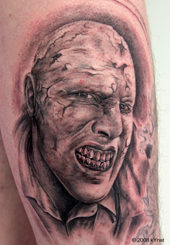Tattoos - Dave Elsey zombie in progress.. - 32328