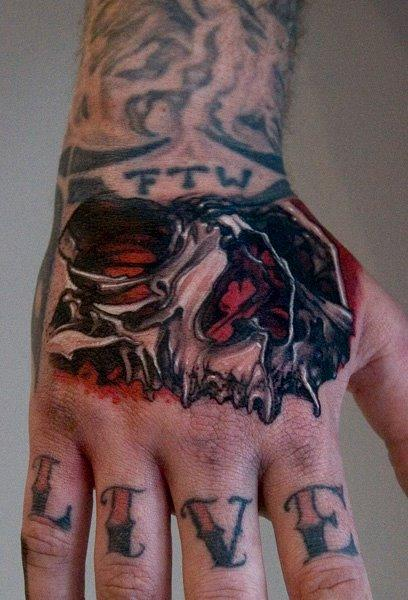 Thomas-kYnst - skull hand tattoo