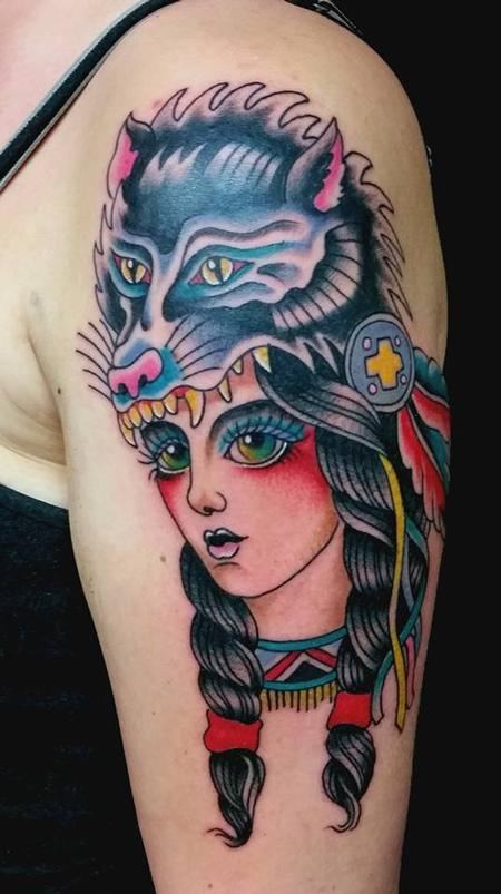 Tattoos - Lady in a Wolf Hat - 109710
