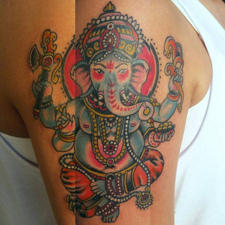 Tattoos - Traditional Genesha - 109434