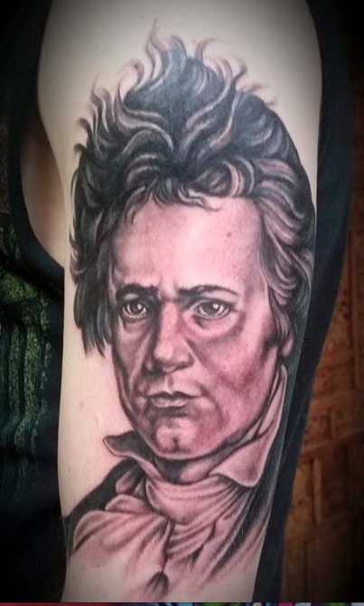 Ludwig Van Beethoven Tattoo Design Thumbnail