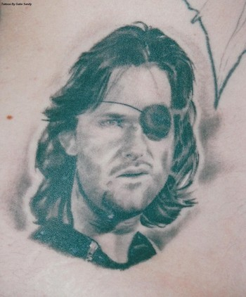 Kurt russel portrait by gabe sandy tattoonow for Little johns tattoo greensboro nc