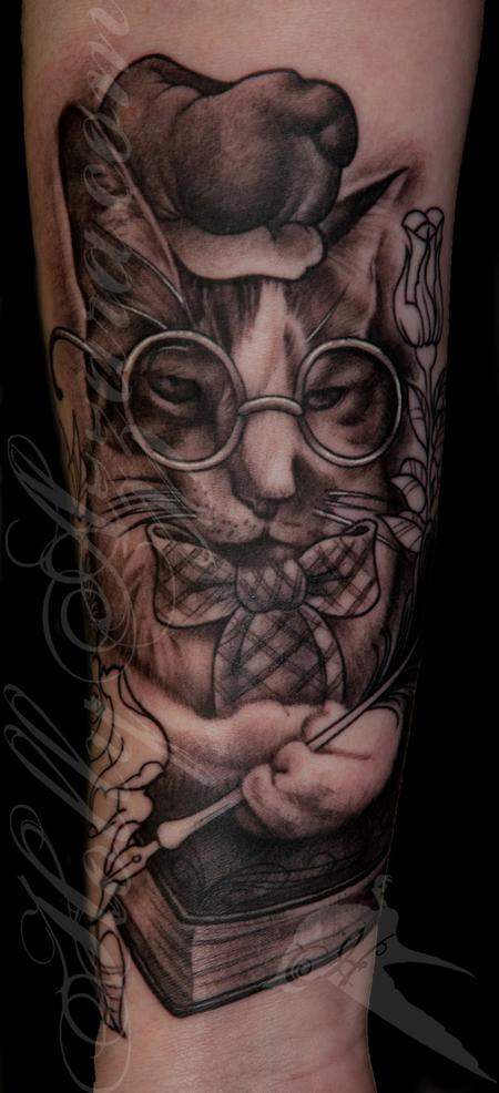 Tattoos - Philosopher kitty - 119753