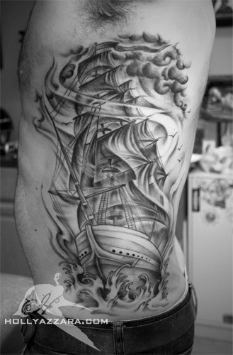 Holly Azzara - Clipper Ship on Ribs