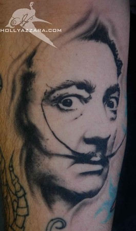 Salvador Dali Tattoos on Salvador Dali Portrait Healed   Tattoos