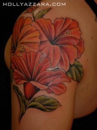 Hibiscus Flower Tattoo On Arm Photo 3