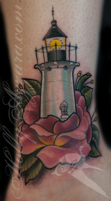 Holly Azzara - Lighthouse in Rose Cover Up