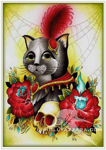 Holly Azzara - Miss Kitty Limited Edition Print