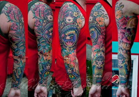 Tattoos - Nesting Doll Sleeve - 96049
