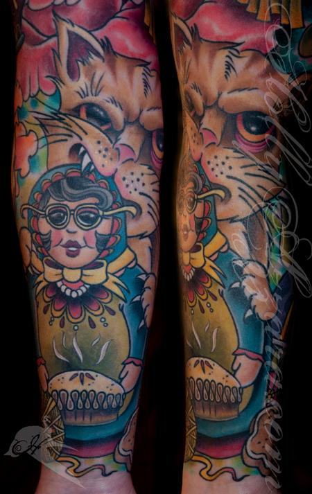 Tattoos - Nesting Doll Nana Cat detail - 96015