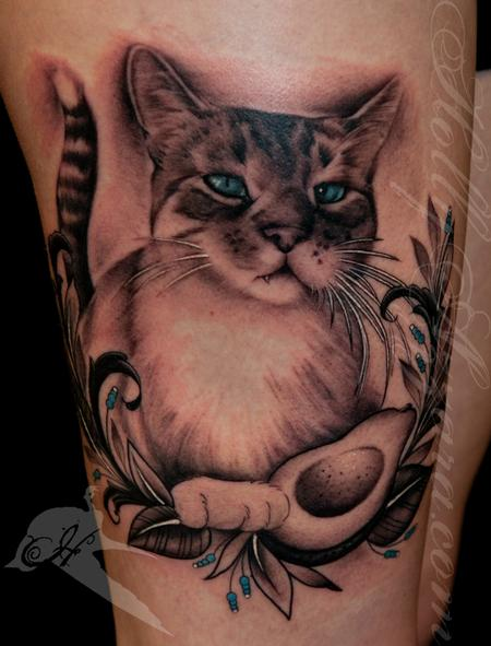 Tattoos - Avocado Kitty - 96001