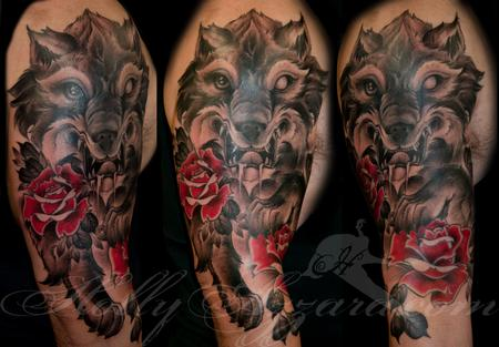Tattoos - Wolf and Roses sleeve - 119754