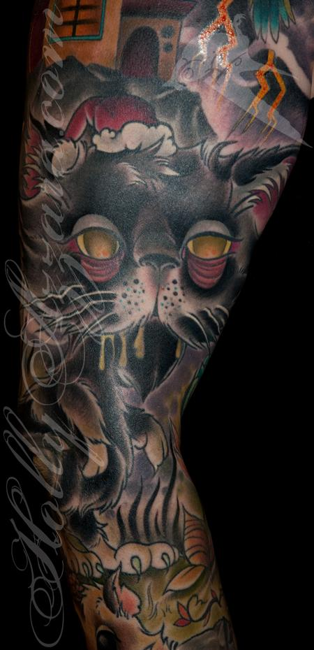 Holly Azzara - Zombie Pet Cemetery Sleeve Coverup Cat Zombie Detail