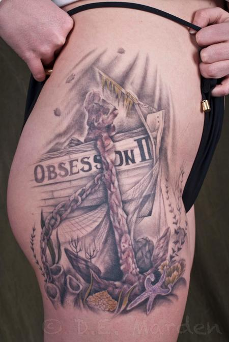 Holly Azzara - Realistic Anchor on thigh
