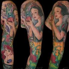 Tattoos - Disney princess sleeve spread - 115561