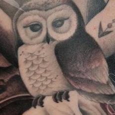 Tattoos - Owl backpiece detail - 119777