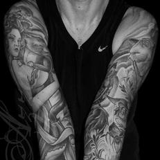 Tattoos - Mother of kitties sleeves - 115553