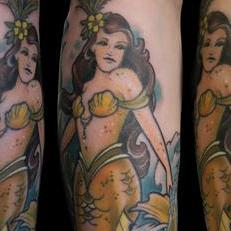 Tattoos - Yellow Mermaid spread - 119745