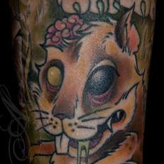 Tattoos - Zombie Rat Closeup Coverup Sleeve Detail - 111841