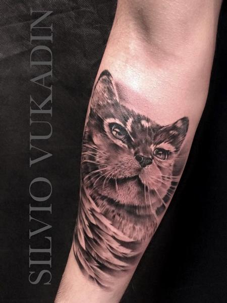 Cat portrait Tattoo Design
